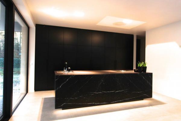 Keuken Marmer Zwart : Marivoet bvba project in detail